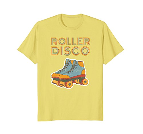 Vintage Mens Disco (Mens Cool Vintage Roller Disco Retro 70s and 80s party T-shirt XL Lemon)