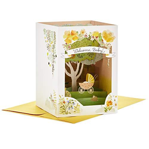 Hallmark Paper Wonder Displayable Pop Up Baby Shower Card (Family Tree)
