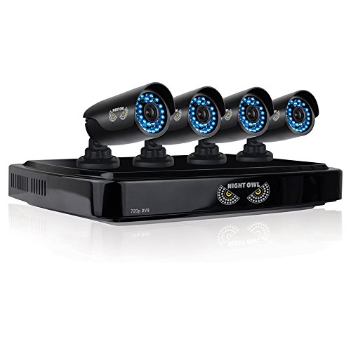 Night Owl Security AHD7-841 8 Channel Smart Video System with 1 TB HDD and 4x720p HD Cameras (Black)