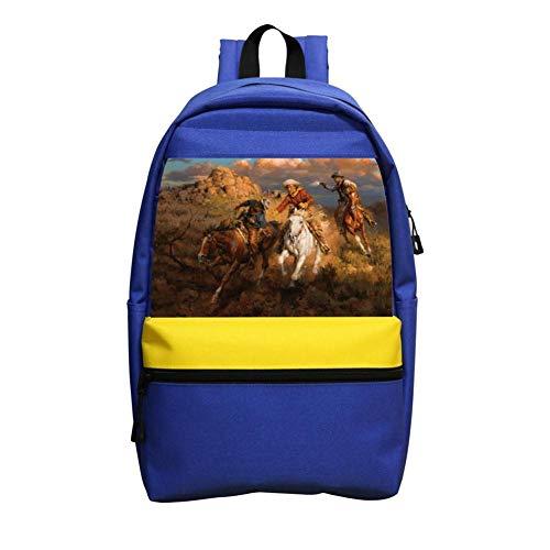 NASOKA Western Cowboy Kid School Water Resistant Fashion Backpacks Bags Bookbag Daypack for Boys and Girls