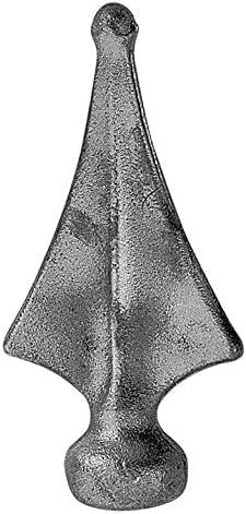 roh Stahl S235JR Fenau H/öhe: 120 mm Material: 24x24 mm Zaunspitze