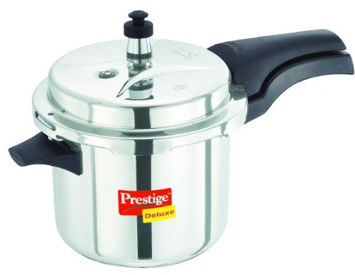 Prestige Deluxe Stainless Steel Pressure Cooker, 3.5 Liters