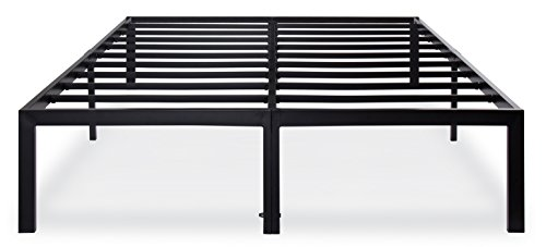 Olee Sleep 14 Inch T-3000 Heavy Duty Steel Slat/Non-slip Support Bed Frame 14BF04Q (QUEEN) - Queen Headboard Dimensions