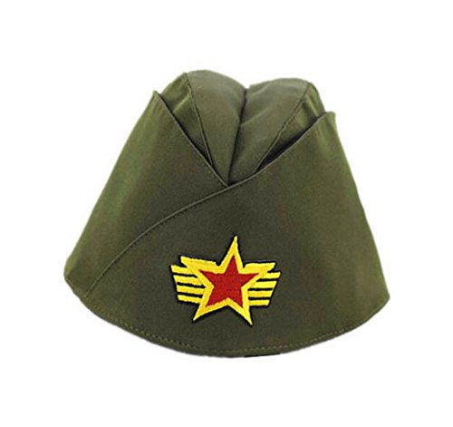 Russian Army Cap Tricorne Green Camo Bonnet Star Logo Women Sailor Military Stage Performance Dance Hats Chinese Boat Caps 8
