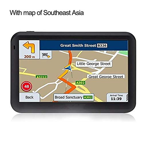 (sbjm Car GPS ,5-inch Touch Screen Car GPS System RAM256M+ROM8GB FM AV-in SAT NAV with Free Map Travel GPS with Bluetooth)