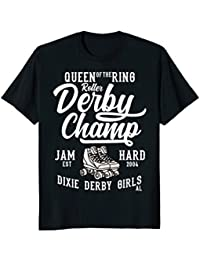 Roller Derby Champ Queen Of The Ring Jam Hard T-shirt