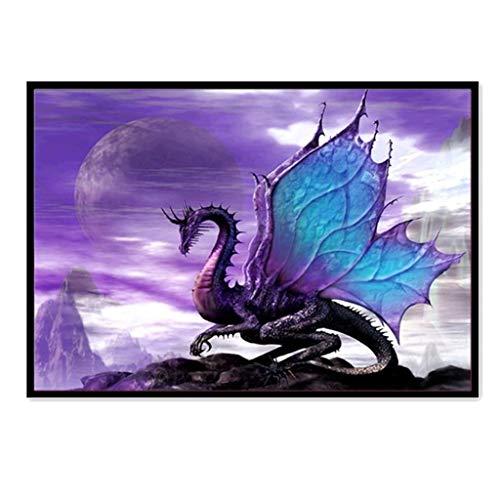 (DIY 5D Diamond Painting Kit - Full Diamond Dragon/Cat/Tiger/Bird Embroidery Rhinestone, Cross Stitch Arts Craft Supply for Home Wall Decor (40x30cm))