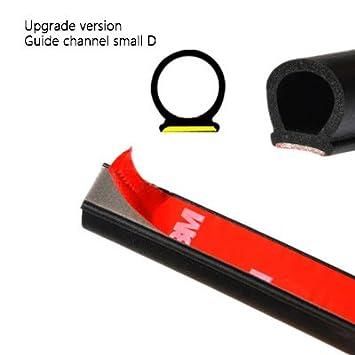 Waterproof Car Small D Type Rubber Edge Seal Hollow Door Weather Strip Sealings