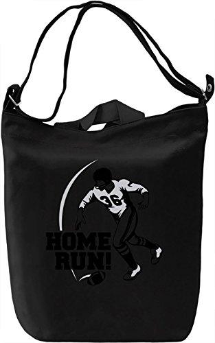 Home Run Borsa Giornaliera Canvas Canvas Day Bag| 100% Premium Cotton Canvas| DTG Printing|