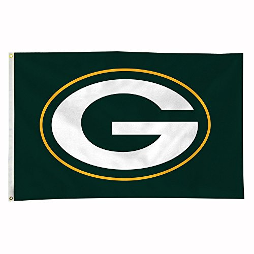 NFL Green Bay Packers 3-Foot-by-5-Foot Banner Flag Flag Logo License Plates