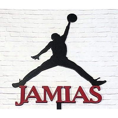 Air Jordan Cake Topper Personalized Jordan Logo: Handmade
