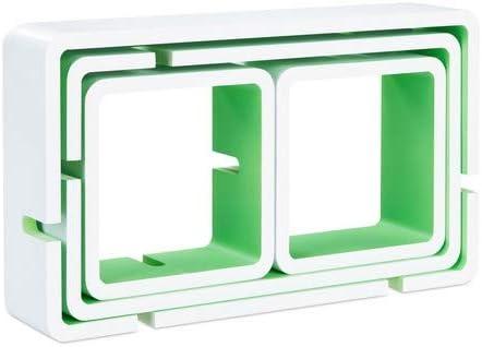 Design Moderno HxLxP: 42x104x10 cm Relaxdays Nero 10021901/_46 Mensole da Muro Cube 4 Cubi da Parete Legno MDF