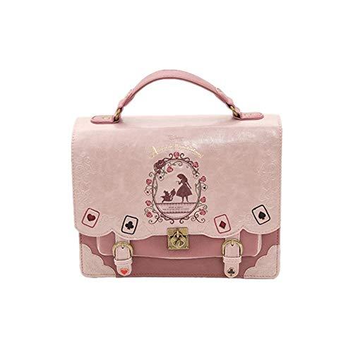 YD Ladies Handbag - Soft Sister Alice in Wonderland Poker Silhouette Painting Shoulder Bag Messenger Bag Handbag 4 Colors Available /& (Color : A)