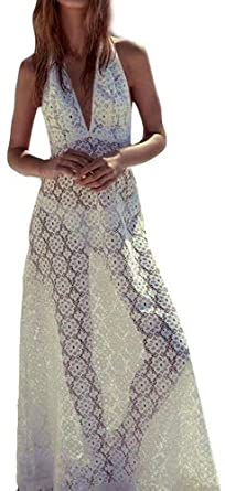 215ea1d2f3 HOMEBABY Women Lace Beach Long Dress Cover Up - Girls Beach Dress  Embroidered Long Suit Bikini Swimwear Crochet Beach Swimsuit Smock Holiday Cover  UPS ...