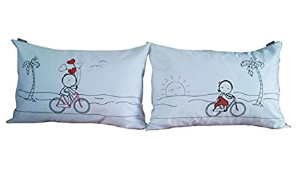 lazi love couple pillowcases pillow covers for valentines day christmas romantic anniversary wedding