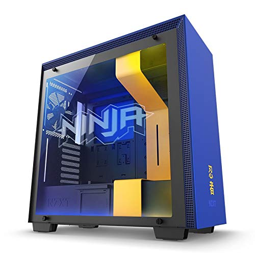 Price comparison product image NZXT H700i - Licensed Ninja Edition ATX PC Gaming Case - Tempered Glass - RGB & Fan Control – Water-Cooling Ready