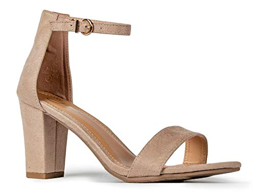 J. Adams Elaine High Heel - Classic Adjustable Ankle Strap Chunky Block Pumps