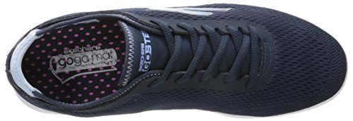 Skechers Performance Womens Aller Chaussure À Lacets Step Navy / Blanc