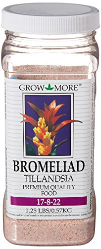 Grow More 5118 Bromeliad Tillandsia Food 17-8-22, 1.25-Pound