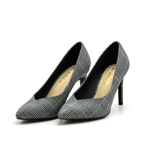 XIE haut Mouth mode femmes Les Shallow chaussures blue talon confortables pink talons femmes pointu chaussures simples wFCaqgwSx