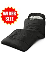 ASOUT Sleeping Bag for Adults and Kids - Portable, Comfort, Extra-Wide Car Camping, Hiking, Backpacking, Great for 4 Season Warm & Cold Weather