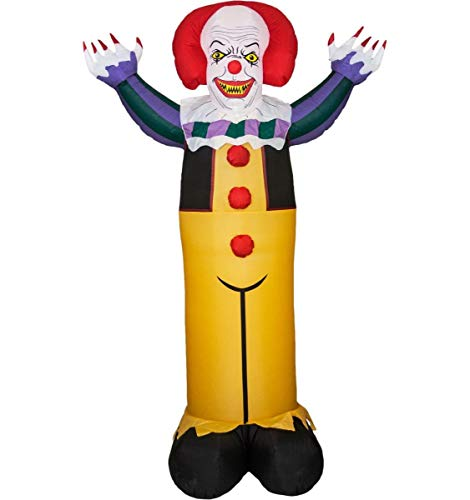 Morbid Enterprises Pennywise Inflatable, Yellow/Red/White/Black/Green/Purple, One Size (Clown Inflatable)