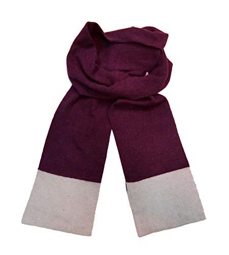 Angora Scarf - Meesty Luxurious Soft Wool Angora Warm Winter Fashion Knit Scarf for Women and Men (Burgundy)