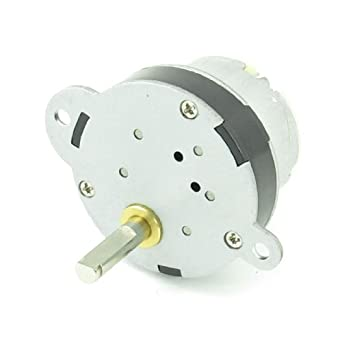Uxcell DC Gear Box Geared Electric Motor for Robot, 12V, 3 RPM Torque