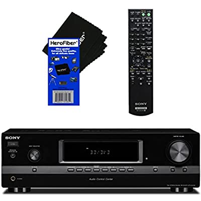 Sony 2 Channel 270W Hi-Fi Stereo Receiver with 5 Audio Inputs, 2 Audio Outputs & AM/FM Tuner + Remote Control + HeroFiber Ultra Gentle Cleaning Cloth