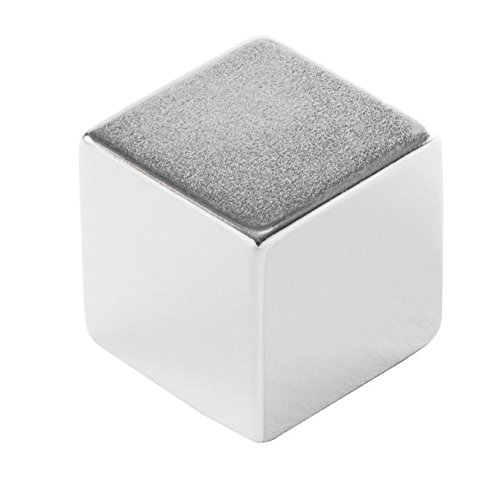 Eclipse Magnetics N420 Neodymium Rare Earth Block Magnet, Nickel Plated, 1' Length x 1' Width x 1' Thickness
