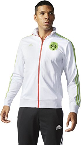 Tri Color Track Jacket (Adidas mens FMF Mexico Track Jacket AB1329_XL - White)