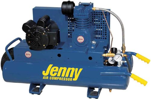 Jenny K15A-8P Single Stage Wheeled Portable Electric Motor Air Compressor with K Pump, 8 Gallon Tank, 1 Phase, 1.5 HP, 115V Jenny Products Inc