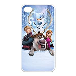 Cartoon Frozen Custom TPU Case Cover Protective Skin For Iphone 4 4s iphone4s-NY1150