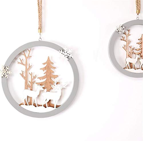 (Christmas Ornaments Hollow Elk Christmas Tree Hangers for Xmas Tree Hanging Decoration Pendant or Home DIY Crafts,5.9x5.9)