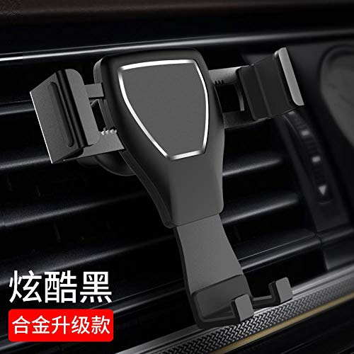 Athens Black Mobile Phone Bracket for Automobile Navigation Frame Outlet Clip Sucker Type, Suction Cup and Outlet Base