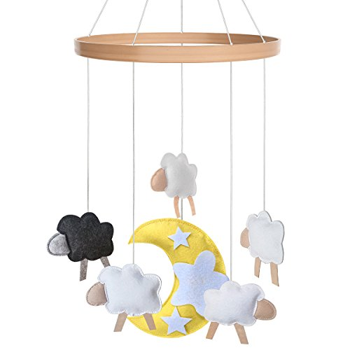Baby Crib Mobile - Toys Perfect for Boys + Girls by i love bub (Baa Baa Black - Mobile Cot