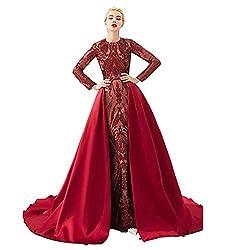 Style L (Burgundy) Long Sequin Mermaid Dress Sleeveless