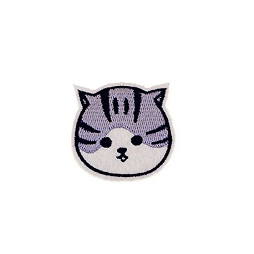 DIY Clothes Embroidered Iron On / Sew On Patch Round Face Cat Badge Fashion Accessories for T-shirt - Face Cats Round