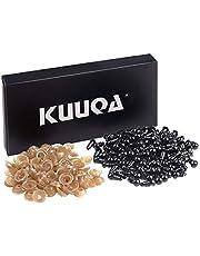 KUUQA 120 Pcs 6mm Black Safety Eyes Plastic Googly Eyes with Washers for Doll, Puppet, Plush Animal Making (6mm)