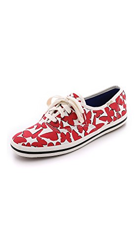 kate spade new york Women's Kick Fashion Sneaker, High Risk Red, 5.5 M US