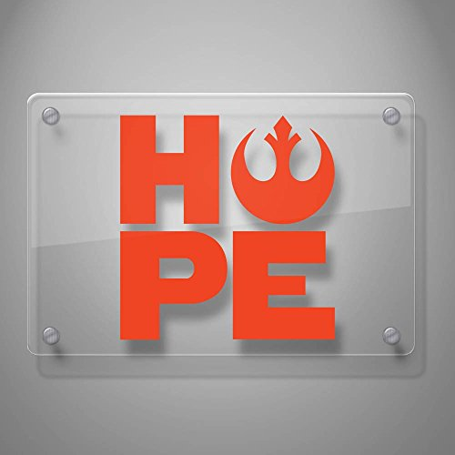 Yoonek Graphics Star Wars Rebel Hope Vinyl Decal Sticker # 862 4 x 3.8 White