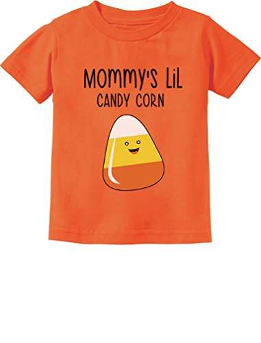 Newborn Candy Corn Costume (Mommy's Lil Candy Corn Halloween Cute Toddler/Infant Kids T-Shirt 2T)
