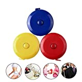Retractable Measuring Tape, ReachTop 3 Pack 150cm 60 Inch Push Button Soft Tape Measure Double-Sided Body Tailor Sewing Craft Cloth Ruler (Yellow, Red, Blue)