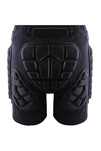 SODIAL(R) Protective Hip Butt Pad BMX Motorcycle Motorcross Race Shorts Pad Hip Protector Gear Impact Protection Black XXL by SODIAL(R)