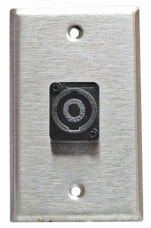 Stainless Steel Speakon Wall Plate Neutrik Single Gang (Speakon Wall Plate Single)