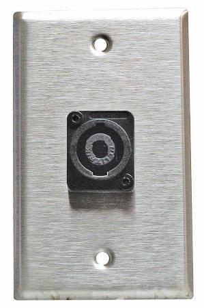 Stainless Steel Speakon Wall Plate Neutrik Single Gang (Speakon Wall Plate Single)