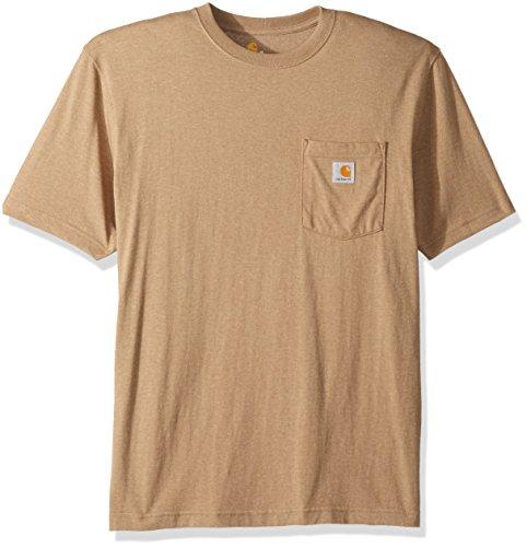 Carhartt Men's K87 Workwear Pocket Short Sleeve T Shirt, Desert Heather, X-Large -