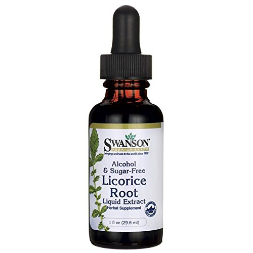 Swanson Licorice Root Liquid Extract (Alcohol and Sugar-Free) 1 fl Ounce (29.6 ml) Liquid ()