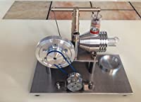 Sunnytech Hot Air Stirling Engine Motor Model Educational Toy Electricity Generator Colorful LED SC