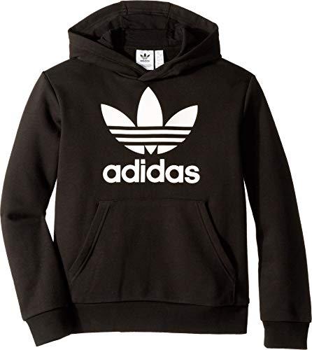 adidas Originals Boys' Big Trefoil Hoodie, black/white, Medium